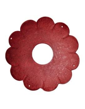 Affari metalen bobeche rood