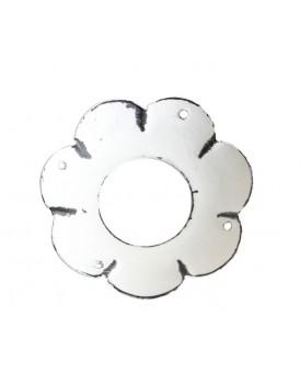 Affari metalen bobeche wit klein