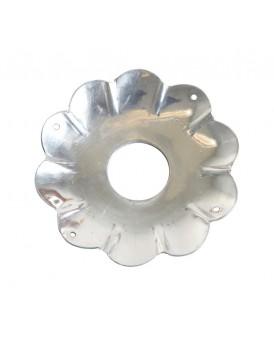 Affari metalen bobeche zilver groot
