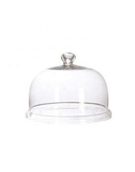Affari glazen stolp met knop