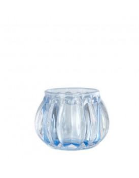 Affari glazen windlichtje Light blue