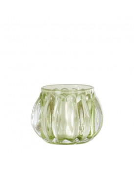 Affari glazen windlichtje Lime
