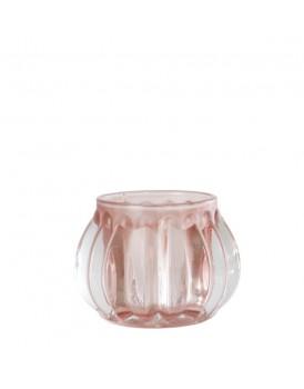 Affari glazen windlichtje Pink