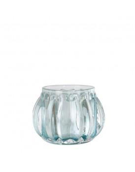 Affari glazen windlichtje Turquoise