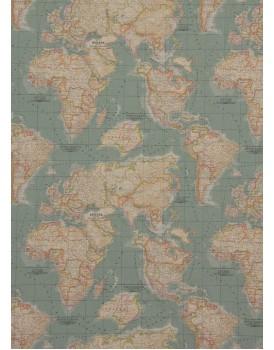 Annie Sloan stoffen Worldmap