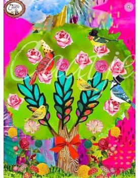 Postkaart Caatje vogels 3