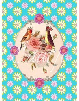 Postkaart Caatje vogels 11