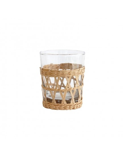HK Living drinkglas met rieten handgreep
