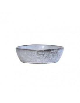 HK Living keramieken schaal grijs M