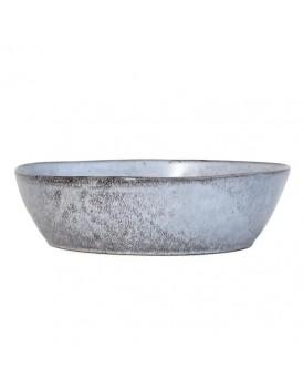 HK Living keramieken schaal grijs L