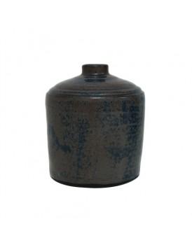 HK Living keramieken vaas geerodeerd zwart