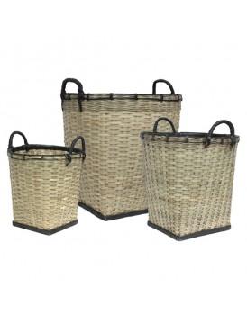 HK Living set 3 manden bamboe