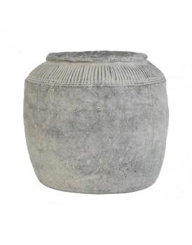 HK Living aardewerk pot cement L