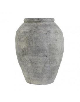 HK Living aardewerk vaas cement L