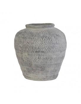 HK Living aardewerk vaas cement M