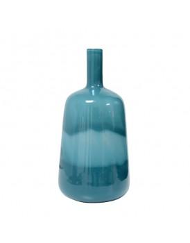 HK Living glazen vaas blauw