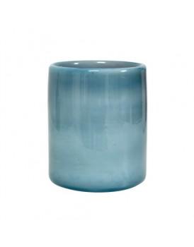 HK Living glazen windlicht blauw
