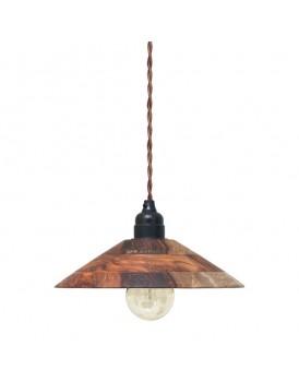 HK Living hanglamp houten kapje