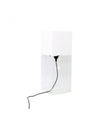 HK Living plexiglas tafellamp wit