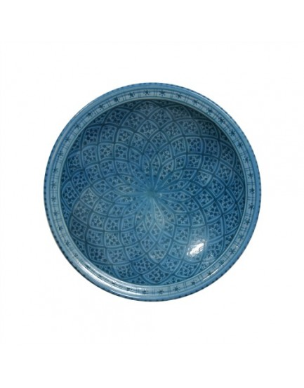 HK Living aardewerk souk schaal donkerblauw