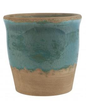 Ib Laursen aardewerk pot blauw