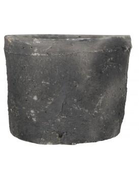 Ib Laursen aardewerk pot grijszwart