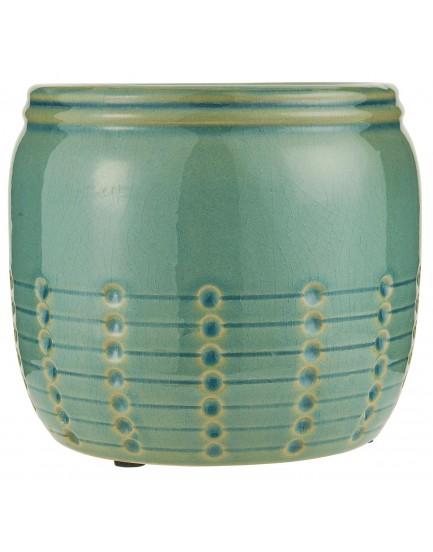 Ib Laursen aardewerk pot groen L