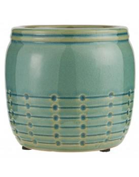 Ib Laursen aardewerk pot groen m
