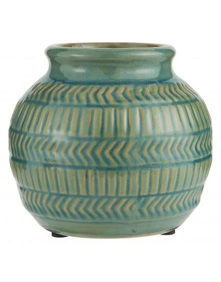Ib Laursen aardewerk vaasje groen