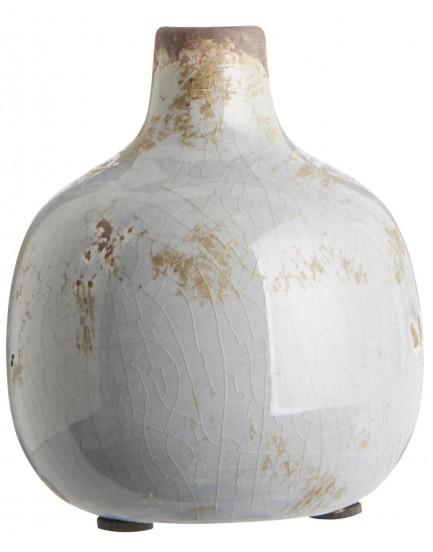 Ib Laursen aardewerk vaasje lichtgrijs