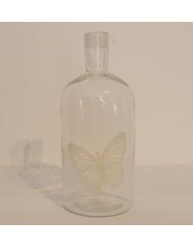 Ib Laursen glazen fles met vlinder