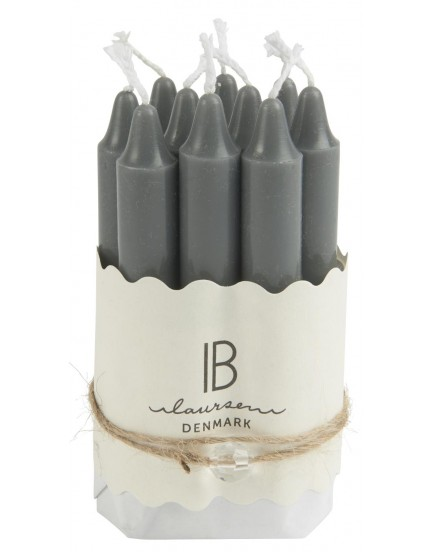 Ib Laursen set 10 kaarsjes grey