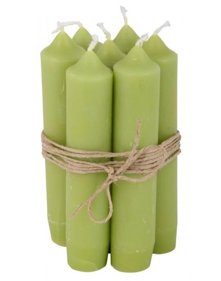 Ib Laursen set 7 kaarsen green