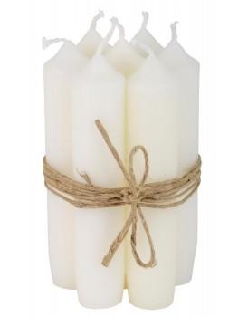 Ib Laursen set 7 kaarsen wit