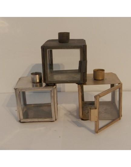 Ib Laursen metalen kandelaar bakje klein