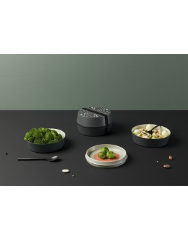 Ibride servies Babel Bento granite