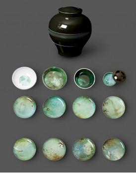 Ibride servies Yuan Narcisse donkergrijs