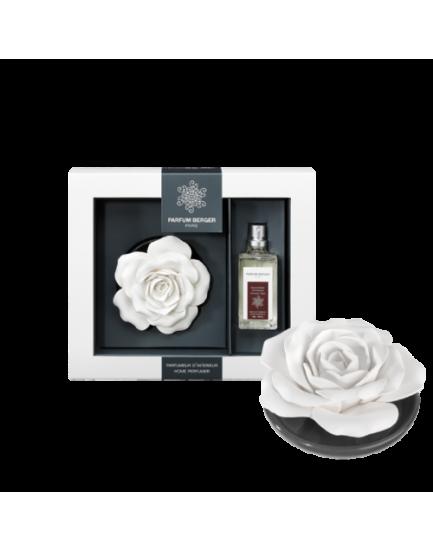 Parfum Berger Rose sur plateau giftset