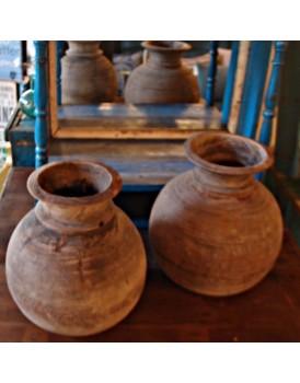 Authentiek houten pot