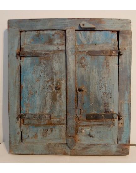 Authentieke spiegel met deurtjes 4