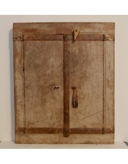 Authentieke spiegel met deurtjes 3