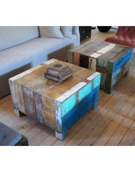 Sloophouten salontafel