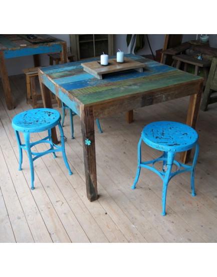 Sloophouten tafel 100 x 100 cm