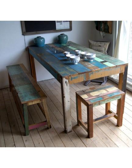 Sloophouten tafel 180 x 90 cm