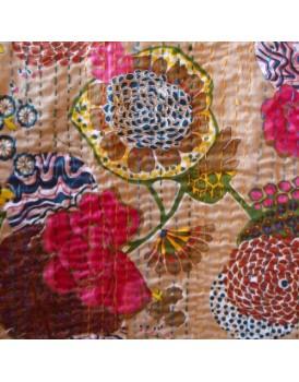 Indiase plaid bloemen sand