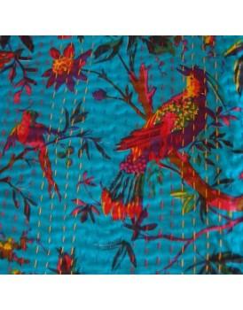 Indiase plaid vogels turquoise