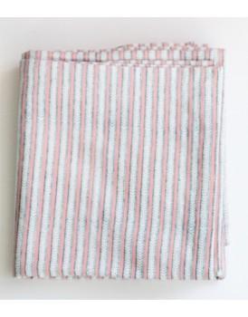 Rozablue tafelkleed funky stripes roza & blue