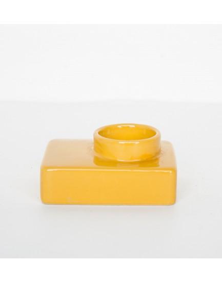 Urban Nature Culture  waxinelicht houder aardewerk yellow
