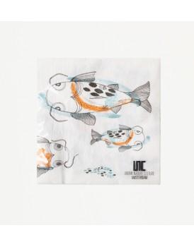 Urban Nature Culture servetten Fish  koi