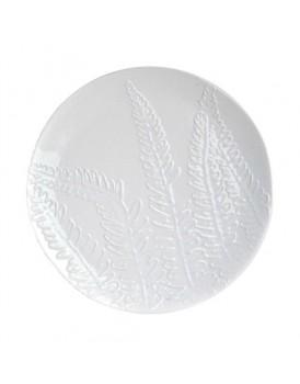 Urban Nature Culture  aardewerk bord wit met bladerpatroon